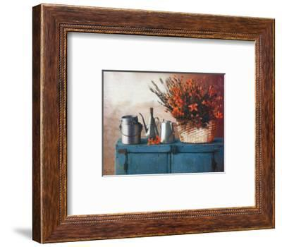 Flowers on Gramma's Sideboard II-M^ De Flaviis-Framed Art Print
