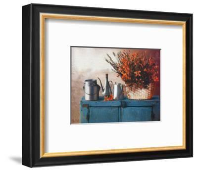 Flowers on Gramma's Sideboard II-M. De Flaviis-Framed Art Print