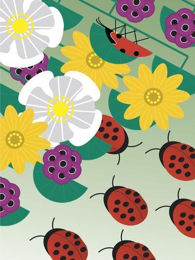 Flowers on Green-Marie Sansone-Giclee Print