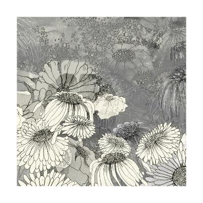 Flowers on Grey II-Ingrid Blixt-Art Print