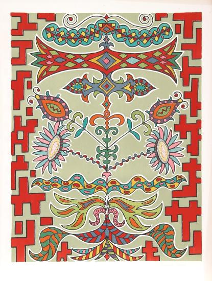 Flowers on Pattern-Edouard Dermit-Limited Edition