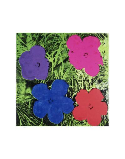 Flowers (Purple, Blue, Pink, Red)-Andy Warhol-Art Print