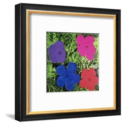 Flowers (Purple, Blue, Pink, Red)-Andy Warhol-Framed Art Print
