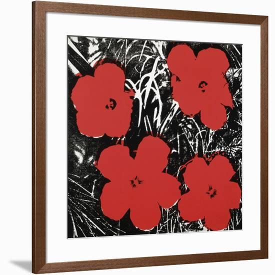 Flowers (Red), 1964-Andy Warhol-Framed Art Print