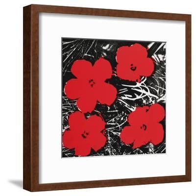 Flowers (Red), c.1964-Andy Warhol-Framed Art Print