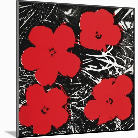 Flowers (Red), c.1964-Andy Warhol-Mounted Art Print