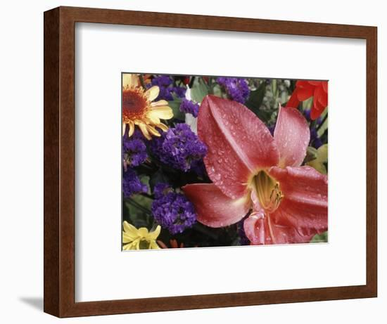 Flowers Sprinkled with Dew-Mitch Diamond-Framed Photographic Print