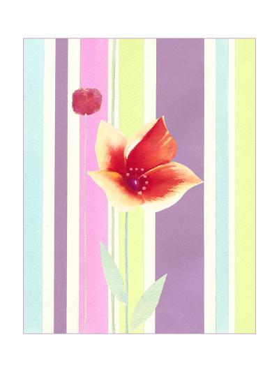 Flowers & Stripes IV-Vision Studio-Art Print