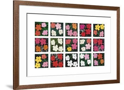 Flowers (various), 1964 - 1970-Andy Warhol-Framed Giclee Print