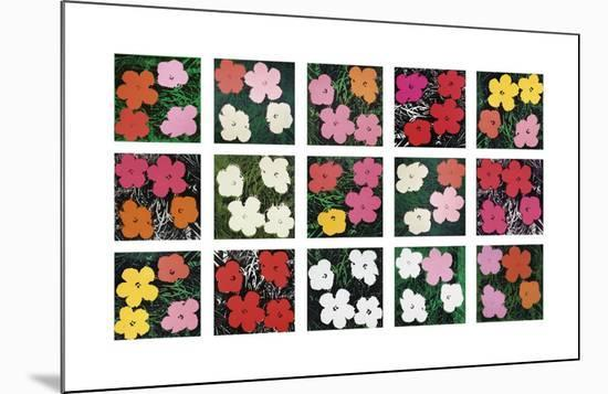 Flowers (various), 1964 - 1970-Andy Warhol-Mounted Giclee Print