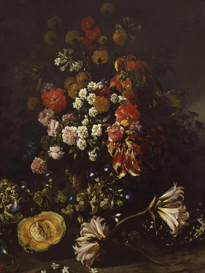 Flowers with Crystal Bowl-Paolo Porpora-Giclee Print