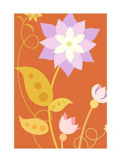Flowers with Stems and Leaves--Art Print