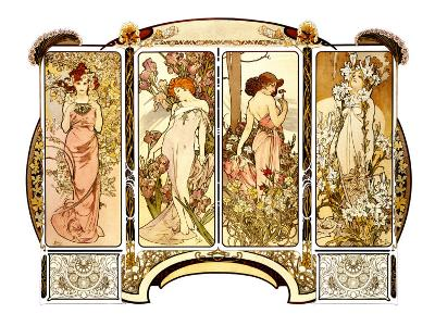 Flowers-Alphonse Mucha-Giclee Print