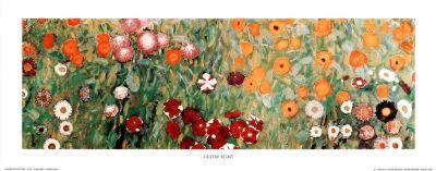 Flowery Garden Detail-Gustav Klimt-Art Print