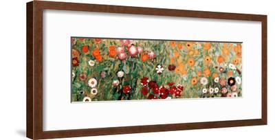 Flowery Garden Detail-Gustav Klimt-Framed Art Print