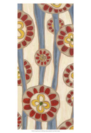Flowing Flowers I-Karen Deans-Art Print