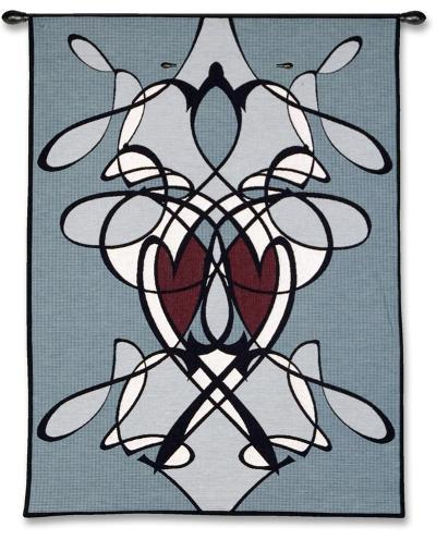 Flowing Hearts--Wall Tapestry