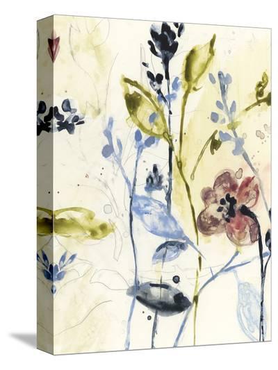 Flowing Stems II-Jennifer Goldberger-Stretched Canvas Print