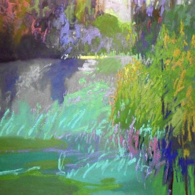Flowing Through-Jane Schmidt-Art Print