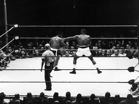 Floyd Patterson and Charles (Sonny) Liston - 1962-Lacey Crawford-Photographic Print