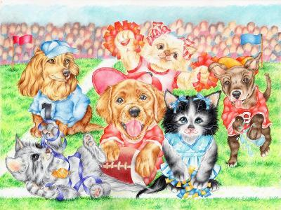 Fluffie Football-Karen Middleton-Giclee Print