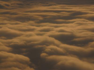 Fluffy Clouds in Vast Peaceful Sky at Dusk--Photographic Print