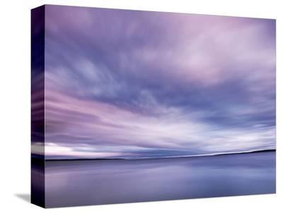 Fluid Sunset-Derek Jecxz-Stretched Canvas Print