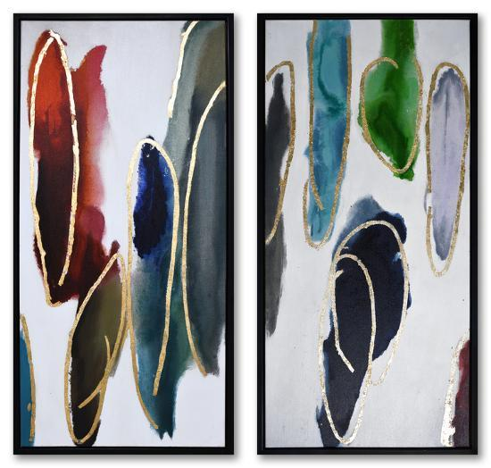 Fluidity--Framed Hand Painted Art