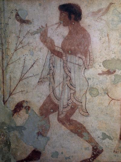 Flute Player, Fresco, Tomb of Triclinium, Monterozzi Necropolis--Photographic Print