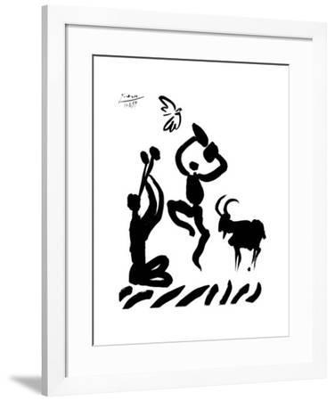 Flute Player-Pablo Picasso-Framed Art Print