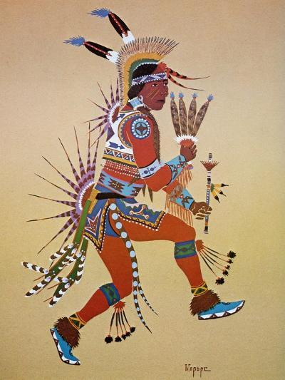 Flute Player-Stephen Mopope-Giclee Print