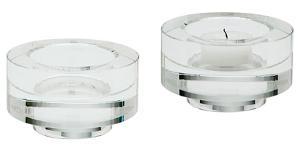 Fluted Crystal Votive -Set Of 2