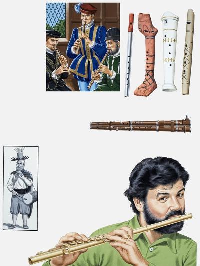 Flutes and Flutists-John Keay-Giclee Print