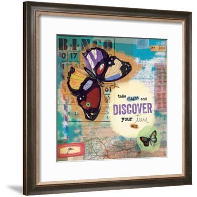 Flutter Collage 2-Holli Conger-Framed Giclee Print