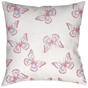 Flutterbyes Pillow - Pink