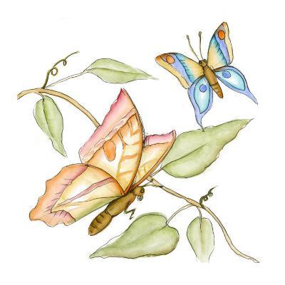 Fluttering Butterflies II-Jennifer Goldberger-Art Print
