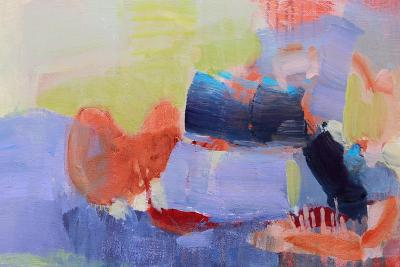 Fluttering My Way Through 2-Lina Alattar-Art Print