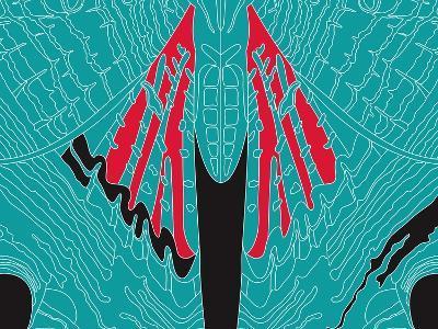 Fly Blueprint-Belen Mena-Giclee Print