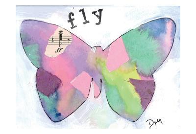 Fly Butterfly-Beverly Dyer-Art Print