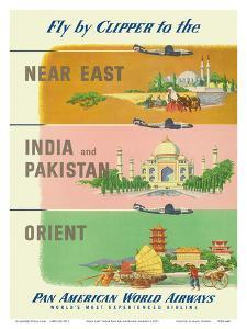 Fly by Clipper to Near East, India and Pakistan, Pan American World Airways