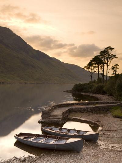 Fly Fishing Boats, Connemara National Park, Connemara, Co, Galway, Ireland-Doug Pearson-Photographic Print