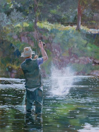 Fly Fishing-Rosemary Lowndes-Giclee Print