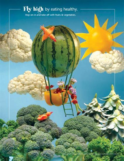 Fly High Foodscapes™--Laminated Poster