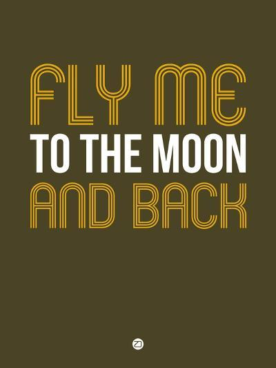 Fly Me to the Moon and Back-NaxArt-Art Print