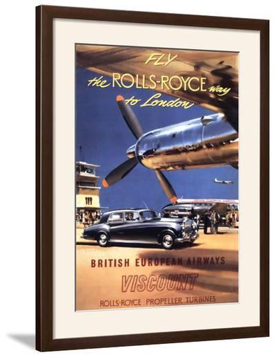 Fly the Rolls Royce way to London, 1953-Frank Wootton-Framed Art Print