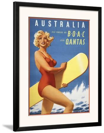Fly to Australia by BOAC and Qantas