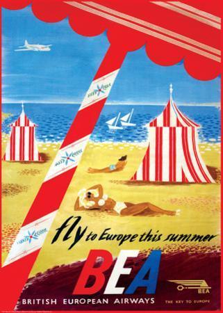 Fly to Europe - British European Airways