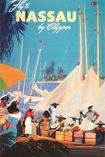Fly to Nassau Poster-Found Image Holdings Inc-Photographic Print