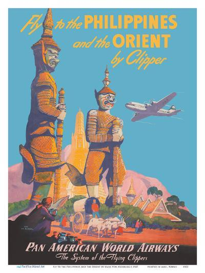 Fly to the Philippines - and the Orient by Clipper - Pan American World Airways-Mark Von Arenburg-Art Print
