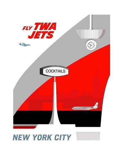 Fly TWA Jets-Michael Murphy-Art Print